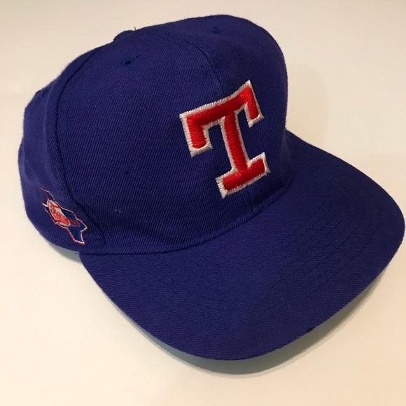 Vintage Other - Vintage 90's Texas Rangers ⚾️ Snap Back Flat Bill